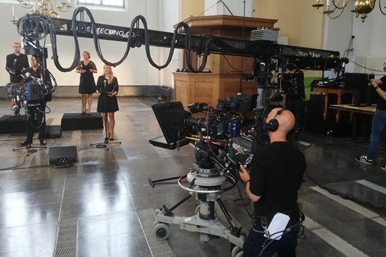 Opnames 'Heel Holland Zingt' in Grote Kerk