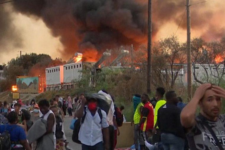 Kerk in Actie: Brand vluchtenlingenkamp Lesbos